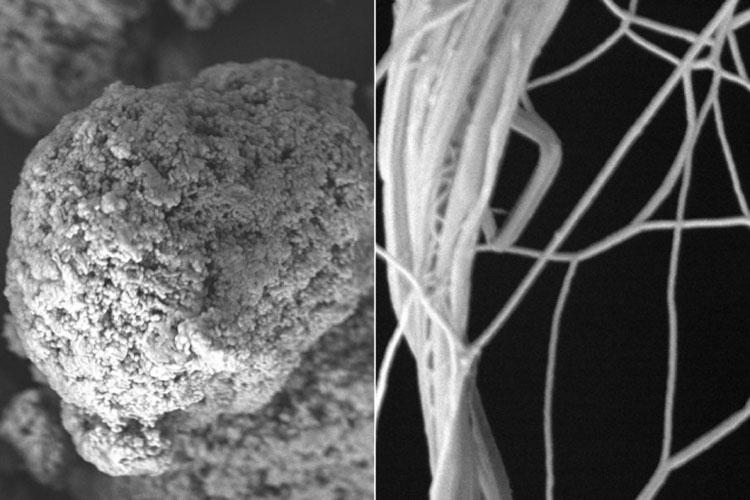Слева «комки» из молекулярных нитей обычного полимера, а справа рапрямлённые и проводящие тепло (MIT)