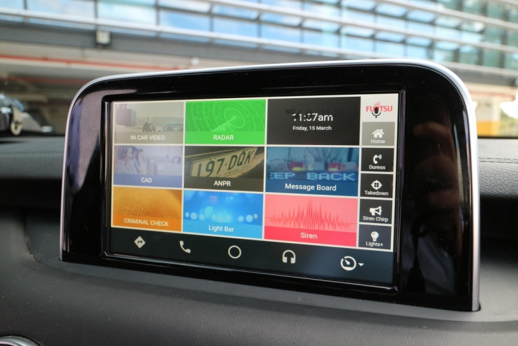 "Fujitsu и Kia создали прототип смарт-автомобиля для полиции"""