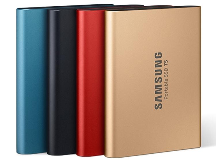 """Карманные SDD-накопители Samsung T5 предстали в ярких цветах"""""""