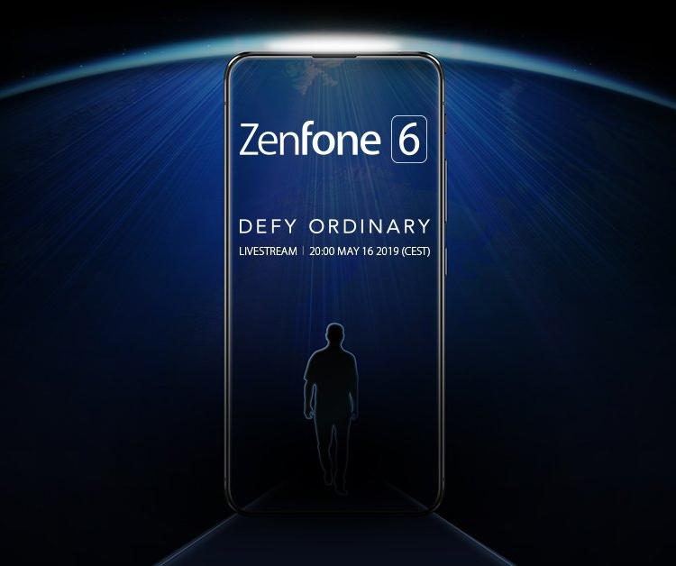 """Без рамок и выреза: смартфон ASUS Zenfone 6 показался на тизер-изображении"""""""