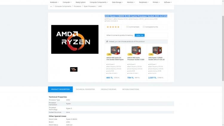 """В онлайн-магазинах замечены чипы AMD Ryzen 9 3800X, Ryzen 7 3700X, Ryzen 5 3600X"""""""