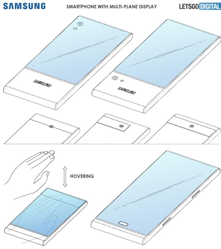 """Samsung запатентовала смартфон с «многоплоскостным дисплеем»"""""""