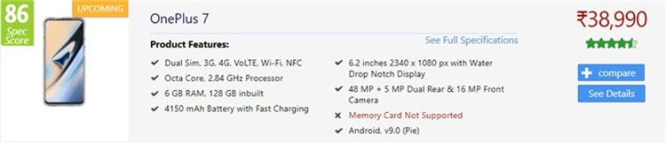 """Судя по утечкам, стоимость семейства OnePlus 7 будет варьироваться от $560 до $840"""""""