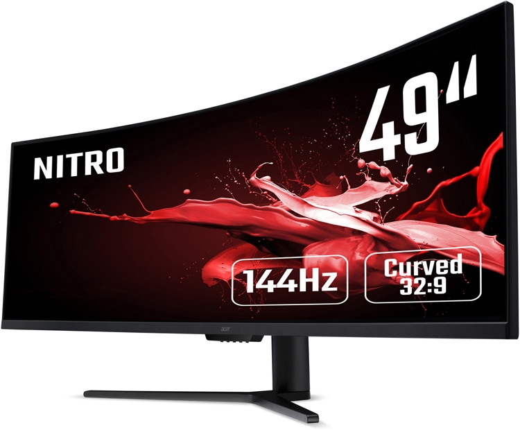 """49 изогнутых дюймов: представлен игровой монитор Acer Nitro EI491CRP"""""""