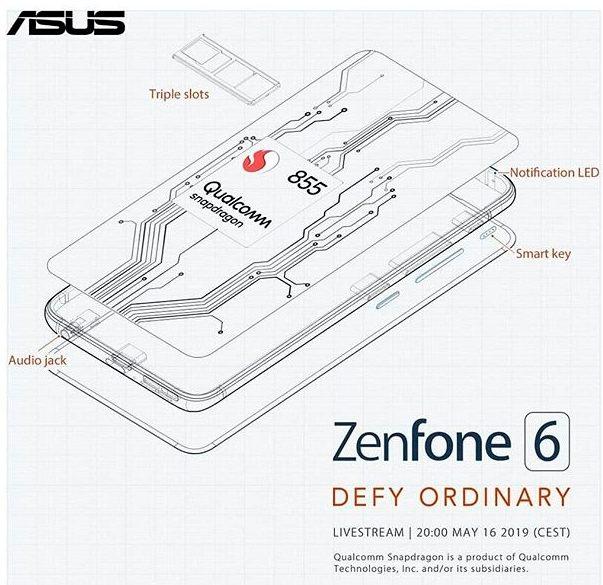 """ASUS Zenfone 6: двойной слайдер с рекордно ёмким для флагмана аккумулятором и ценой под $1000 в топовой версии"""""""