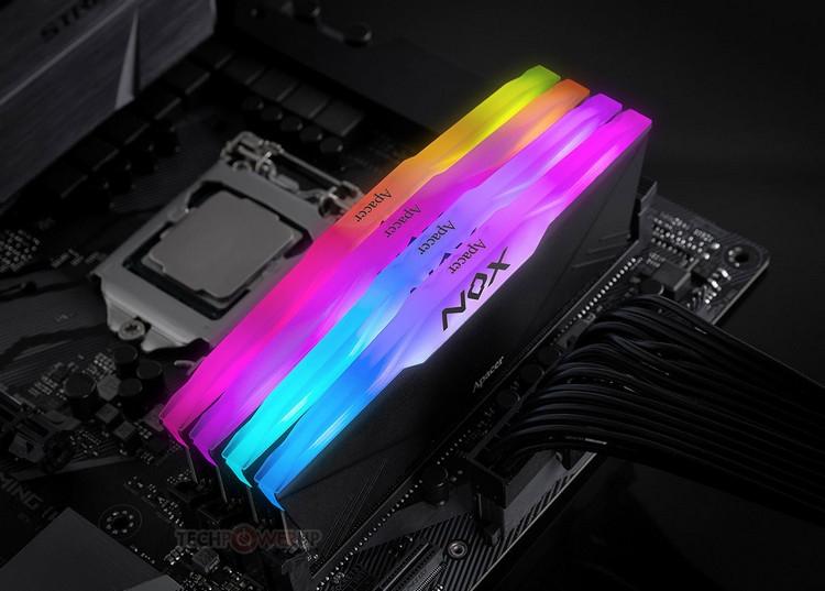 "Apacer NOX RGB DDR4: модули памяти с большими радиаторами и RGB-подсветкой"""