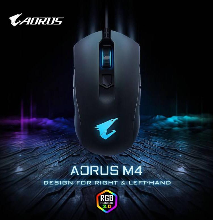 """Игровая мышь Aorus M4 подходит правшам и левшам"""""""