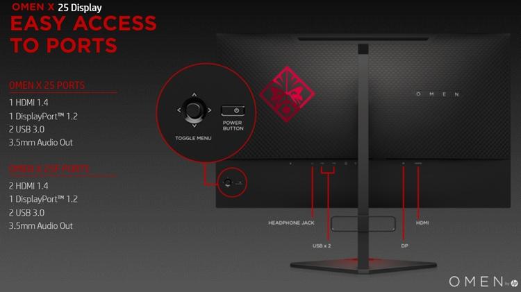 """HP Omen X 25: монитор с частотой обновления 240 Гц"""""""