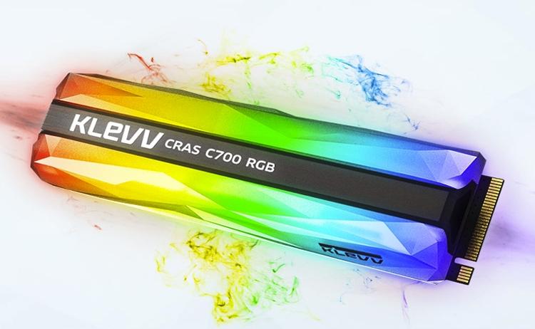 """KLEVV CRAS C700 RGB: накопители NVMe M.2 SSD с эффектной подсветкой"""""""