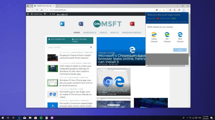 """НовыйMicrosoft Edge меняет тему оформления вместе с Windows"""""""
