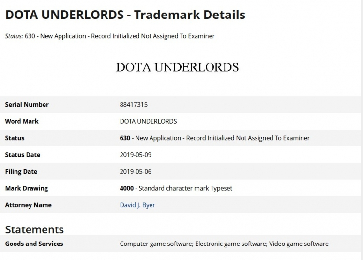 """Valve зарегистрировала товарный знак DOTA Underlords"""""""