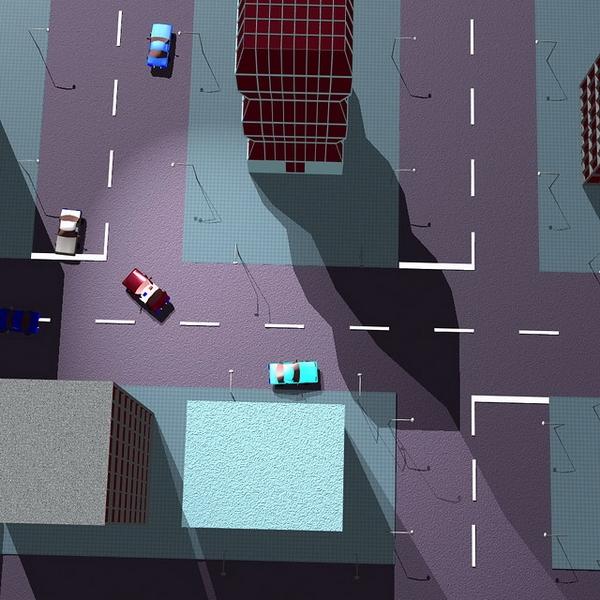 Концептуальное изображение Race'n'Chase — раннего прототипа Grand Theft Auto