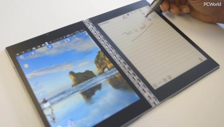 """Intel размышляет над конструкцией ноутбуков с двумя дисплеями"""""""