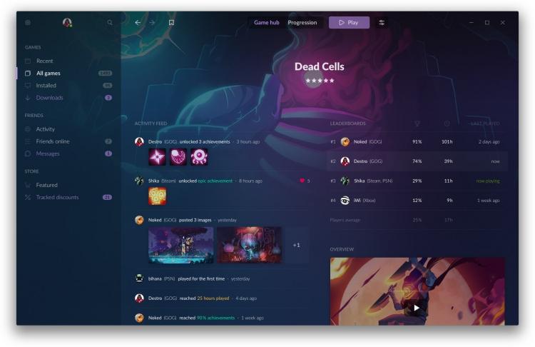 Galaxy 2.0 — новый клиент для пользователей GOG, который объединит все платформы и магазины