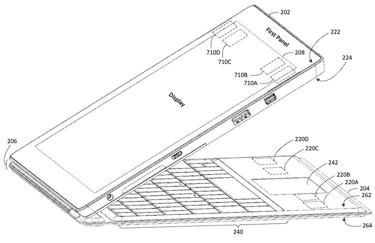 """Патентная документация раскрывает особенности планшета Microsoft Surface Pro 7"""""""