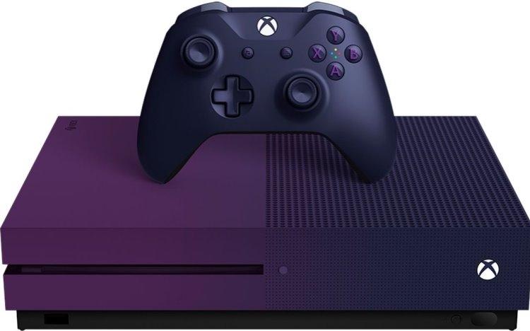 """В Сеть «утекли» изображения фиолетовой Xbox One S в стиле Fortnite"""""""
