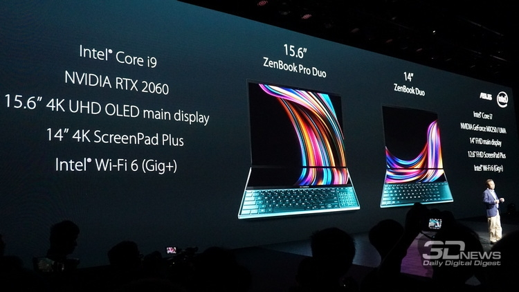 "Computex 2019: ASUS представила флагманский ноутбук ZenBook Pro Duo с двумя 4K-дисплеями"""