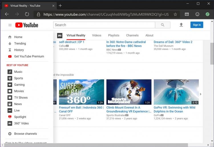 """В последнем Microsoft Edge не работают некоторые функции YouTube"""""""