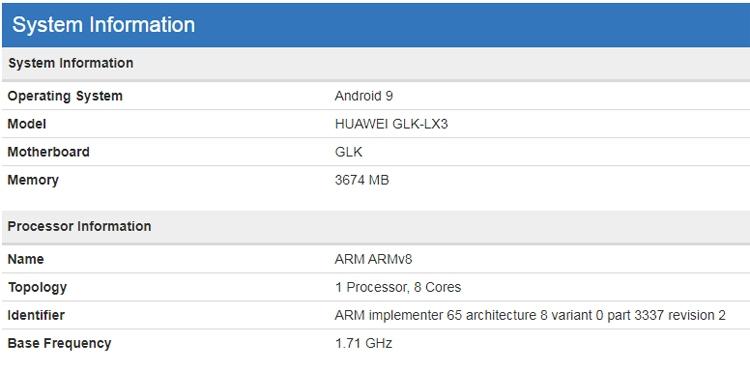 """Смартфон Huawei Nova 5I получит процессор Kirin 710"""""""