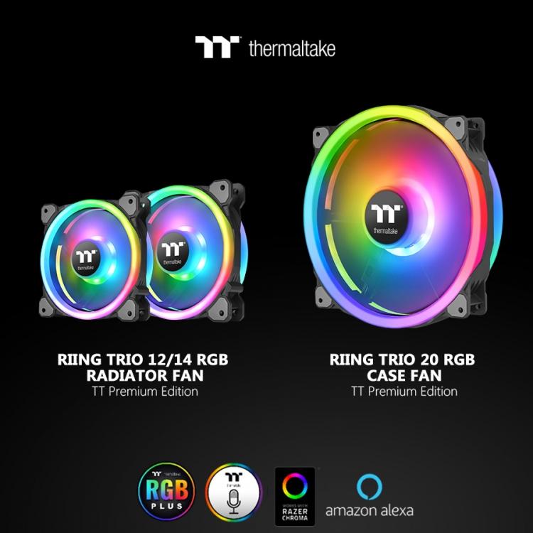 "Computex 2019: Thermaltake представила вентилятор Riing Trio 20 LED RGB Case Fan TT Premium Edition"""