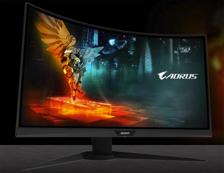 """Aorus CV27F: изогнутый игровой монитор с временем отклика в 1 мс"""""""