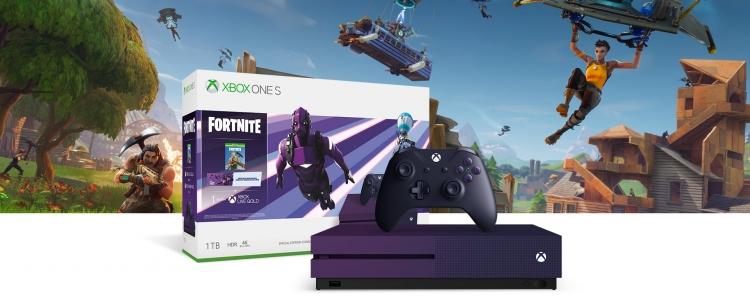 """Официально: Microsoft выпустит Xbox One S с Fortnite в необычной фиолетовой раскраске уже на днях"""""""