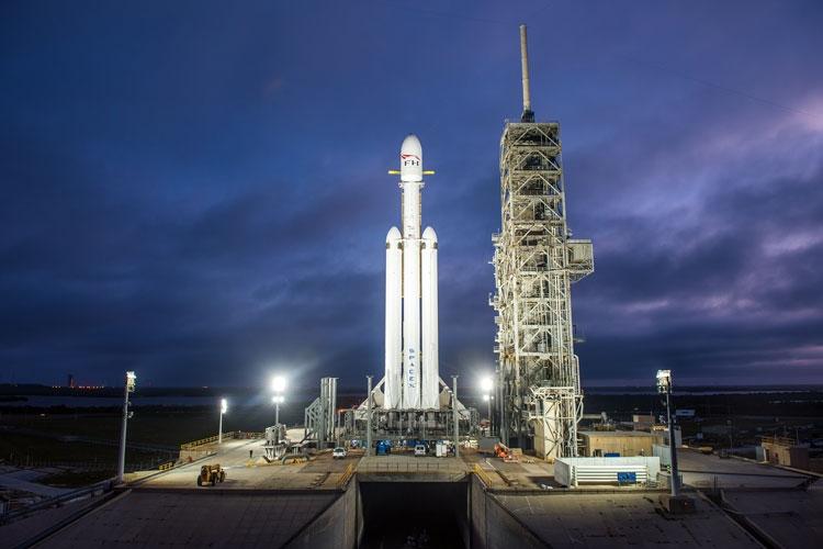 SpaceX Falcon Heavy в один из предыдущих запусков