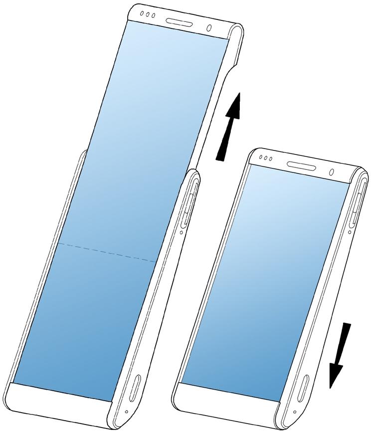 """В Samsung придумали смартфон со скручивающимся дисплеем"""""""