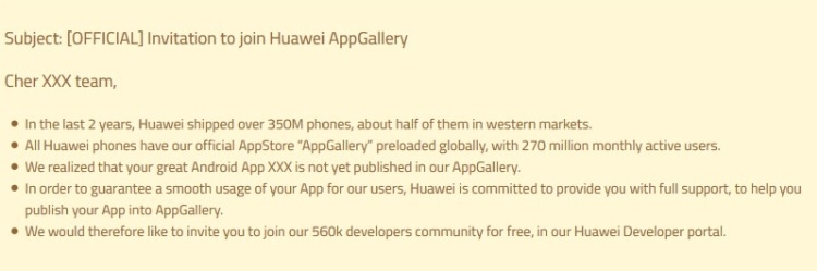 """Huawei предлагает разработчикам размещать Android-приложения в AppGallery"""""""