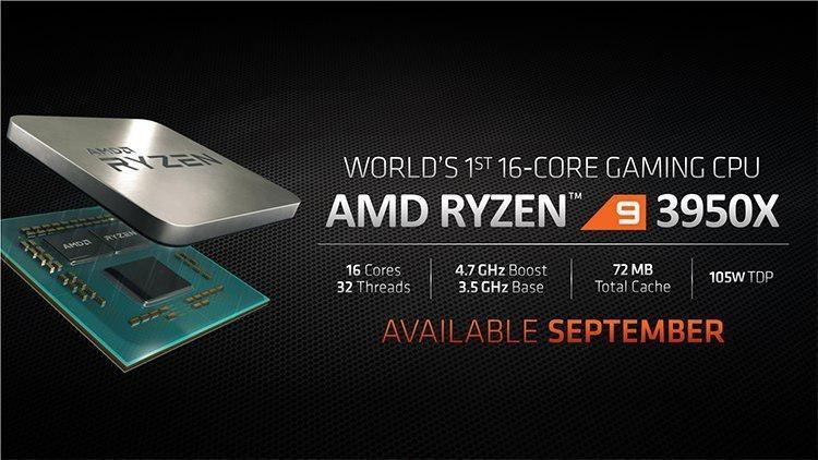 "AMD Ryzen 9 3950X стал самым быстрым процессором в Geekbench, опередив даже Core i9-9980XE"""