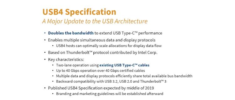 """Продукты с поддержкой USB4 появятся в конце 2020 года"""""""