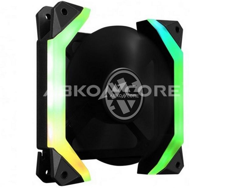 """X2 Abkoncore Spectrum Spider: корпусный вентилятор необычной формы с подсветкой"""""""
