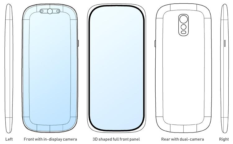 """В Samsung предложен привлекательный дизайн смартфона с экраном «от края до края»"""""""