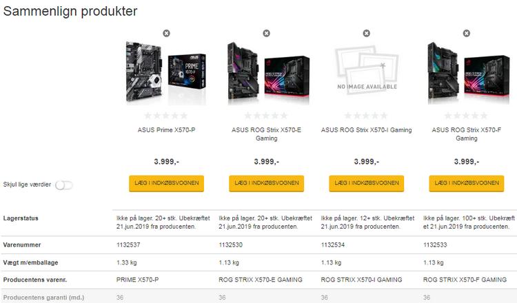"""Датский магазин подтвердил высокую стоимость материнских плат на AMD X570"""""""