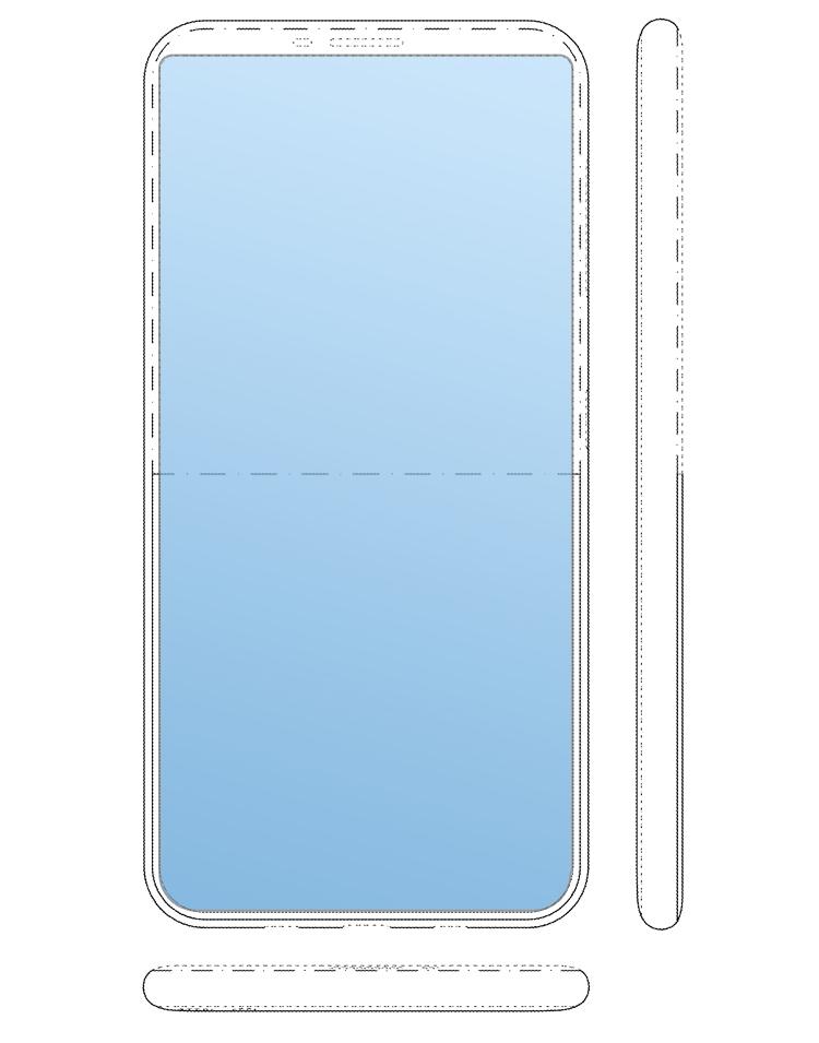 Samsung проектирует смартфон с дисплеем на тыльной панели