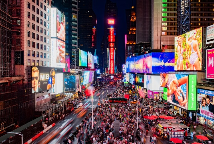 Samsung's new LED screen appeared in Downtown New York – tocuz