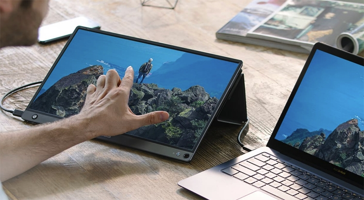 "ASUS ZenScreen Touch MB16AMT: портативный монитор размером 15,6 дюйма"""