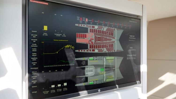 Панель отображения энергетической системы судна
