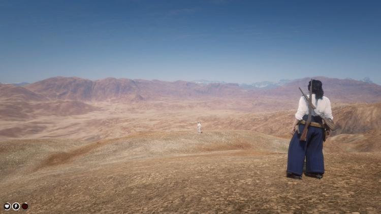 """Игроки смогли выйти за пределы карты Red Dead Online и нашли там красочную пустыню"""""""