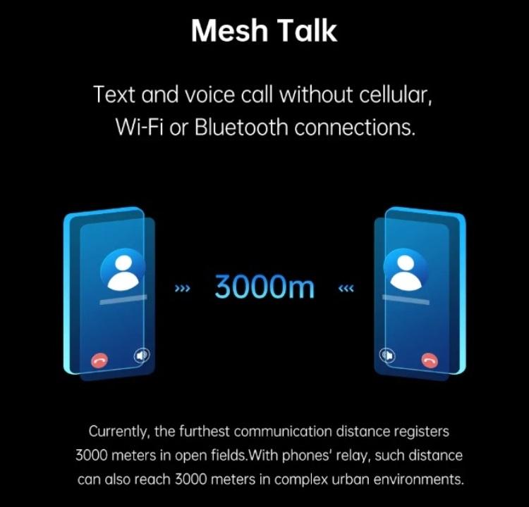 """Технология OPPO MeshTalk позволяет звонить и обмениваться сообщениями без подключения к сотовой сети или Интернету"""""""