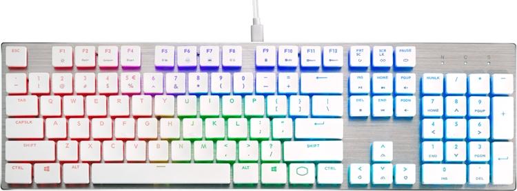 """Клавиатуры Cooler Master SK Series Limited Edition выполнены в белом цвете"""""""