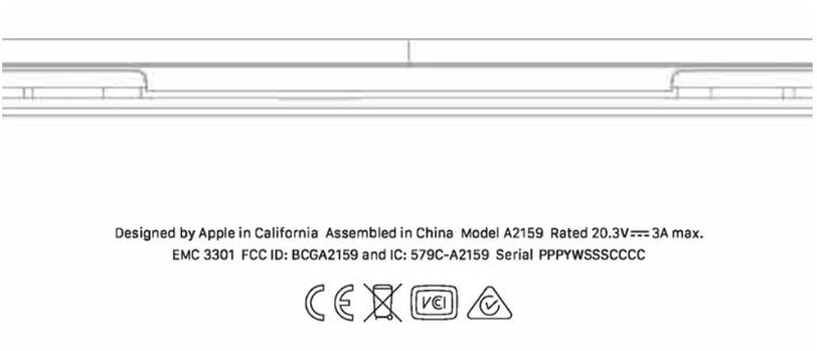 """Регулятор раскрыл данные о новом ноутбуке MacBook Pro с 13"""" дисплеем"""""""