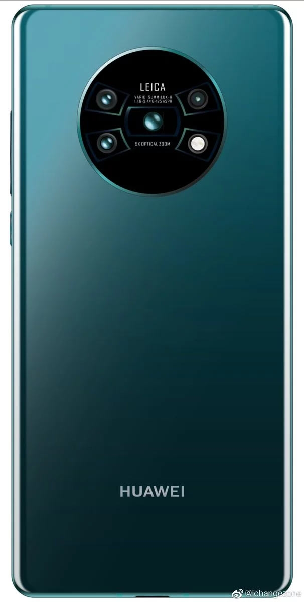 "Стильная четверная камера и дисплей без подбородка в Huawei Mate 30 Pro"""