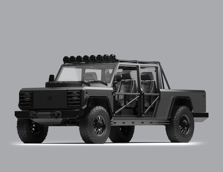 "Bollinger показал кастомные варианты грузовика и пикапа на электрическом ходу"""