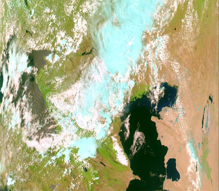 """Фото дня: первый снимок с ДЗЗ-спутника «Метеор-М» №2-2"""""""