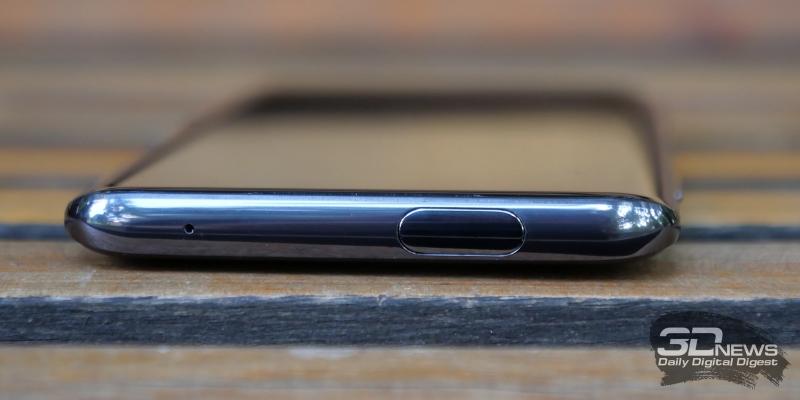 OnePlus 7 Pro, верхняя грань: выдвижной блок фронтальной камеры, дополнительный микрофон