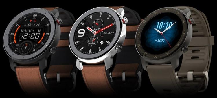 """Amazfit GTR: смарт-часы с экраном AMOLED, поддержкой NFC и герметичным корпусом"""""""
