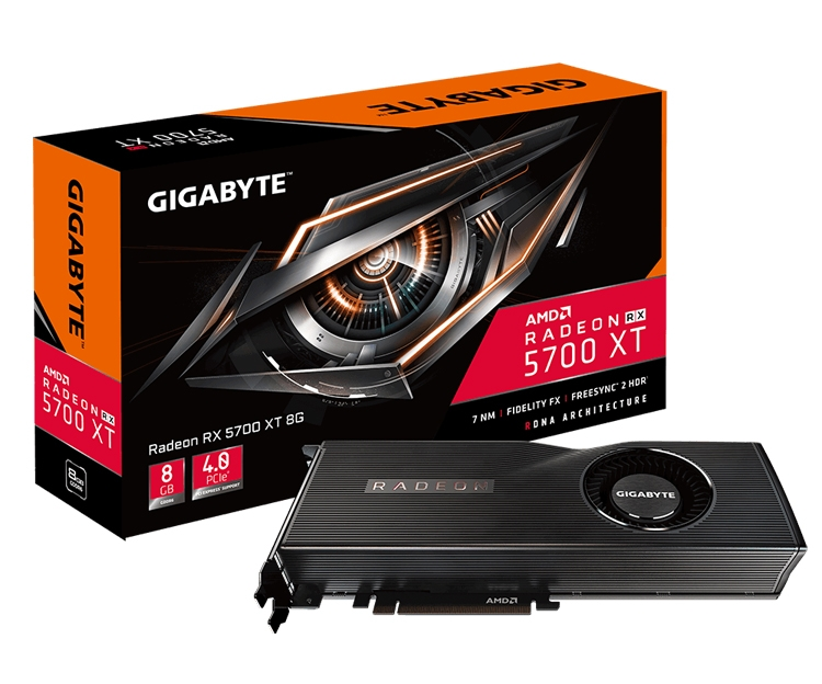 "GIGABYTE представила видеокарты Radeon RX 5700 XT 8G и Radeon RX 5700 8G"""