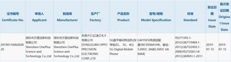 """Смартфон OnePlus 7 Pro 5G получит поддержку 30-ваттной зарядки"""""""