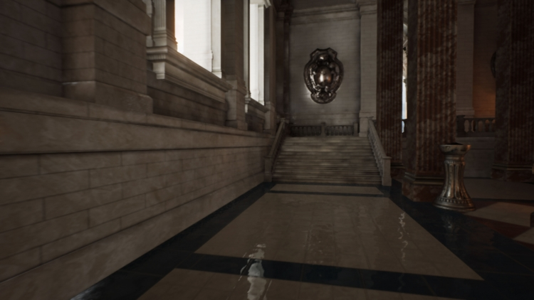 VRS на движке Unreal Engine 4 в сцене Sun Temple на прототипе ускорителя Intel Gen11